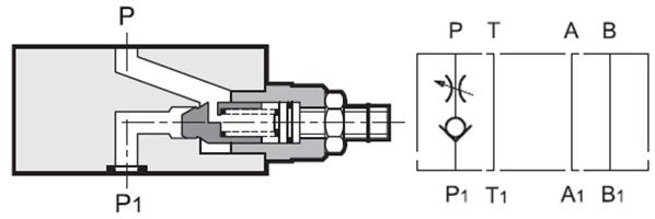 مشخصات عملکردی شیر یکطرفه با محدود کننده جریان مدولار MVR-RSP سری 50 دوپلوماتیک