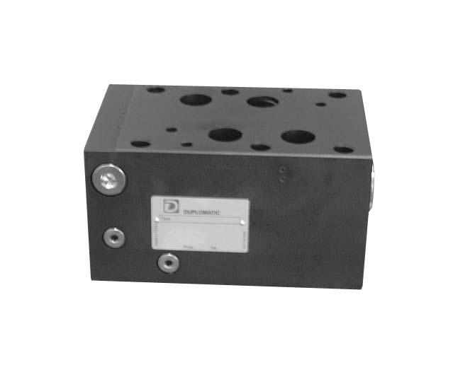 جبران کننده فشار دو یا سه جهته مدولار با تنظیم ثابت PCM8 دوپلوماتیک