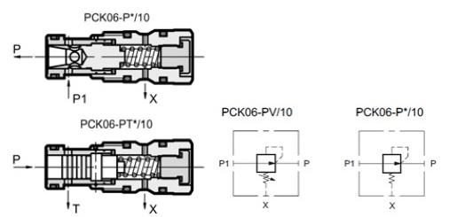 شیر دو و سه راهه جبران کننده فشار کارتریجی PCK06