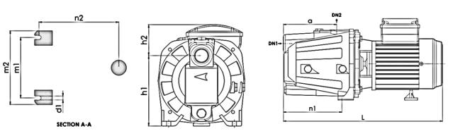 ابعاد الکتروپمپ آب خانگی نوید موتور CAM100