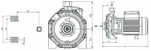 ابعاد پمپ خانگی نوید موتور CB160