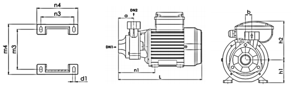 ابعاد الکترو پمپ خانگی نوید موتو PM45