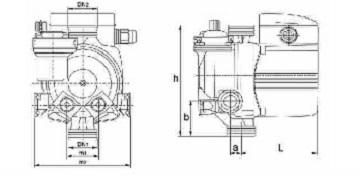 ابعاد الکترو پمپ پکیج دیواری نوید موتور NM 15-60 A