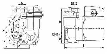 ابعاد الکترو پمپ پکیج دیواری نوید موتور NM 15-60 B