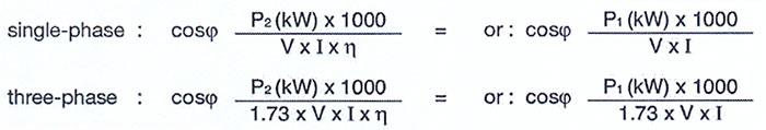 فرمول مجاسبه ضریب قدرت پمپ