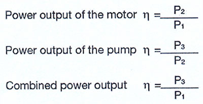 نحوه محاسبه توان خروجی موتور پمپ