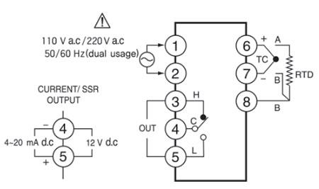 دیاگرام اتصالات سنسور هانیانگ مدل HY-48D