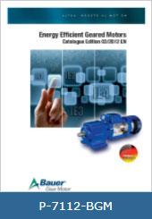 کاتالوگ بهره وری انرژی گیربکس باور IE1-IE2