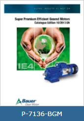 کاتالوگ بهره وری انرژی گیربکس باور Bauer