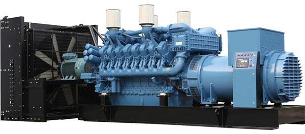 موتور ژنراتور گاز سوز پزکینز انگلستان با توان 2 مگاوات کوپله شده با ژنراتور مکالته ایتالیا