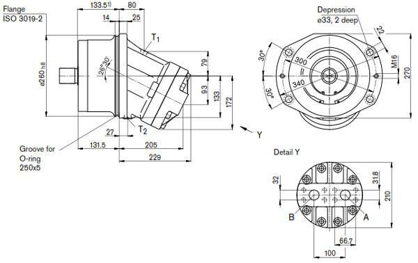 هیدروموتور محوری رکسروت A2FE