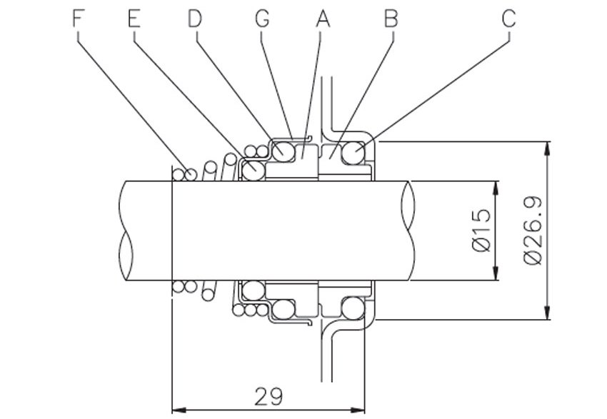 مکانیکال سیل پمپ سانتریفیوژ تمام استیل ابارا سری 2CDX