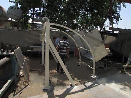 آشغالگیر مکانیکی تصفیه خانه فاضلاب شهر زابل
